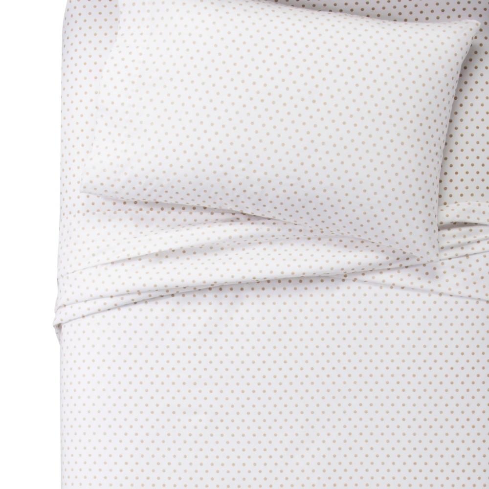 Toddler Metallic Dots 100% Cotton Sheet Set - Pillowfort, White
