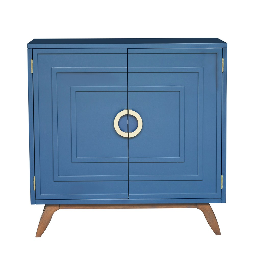 Linden Contemporary Modern Blue Door Chest Blue - Pulaski