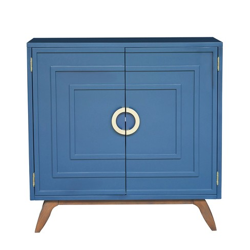 Linden Contemporary Modern Blue Door Chest Blue - Pulaski - image 1 of 6
