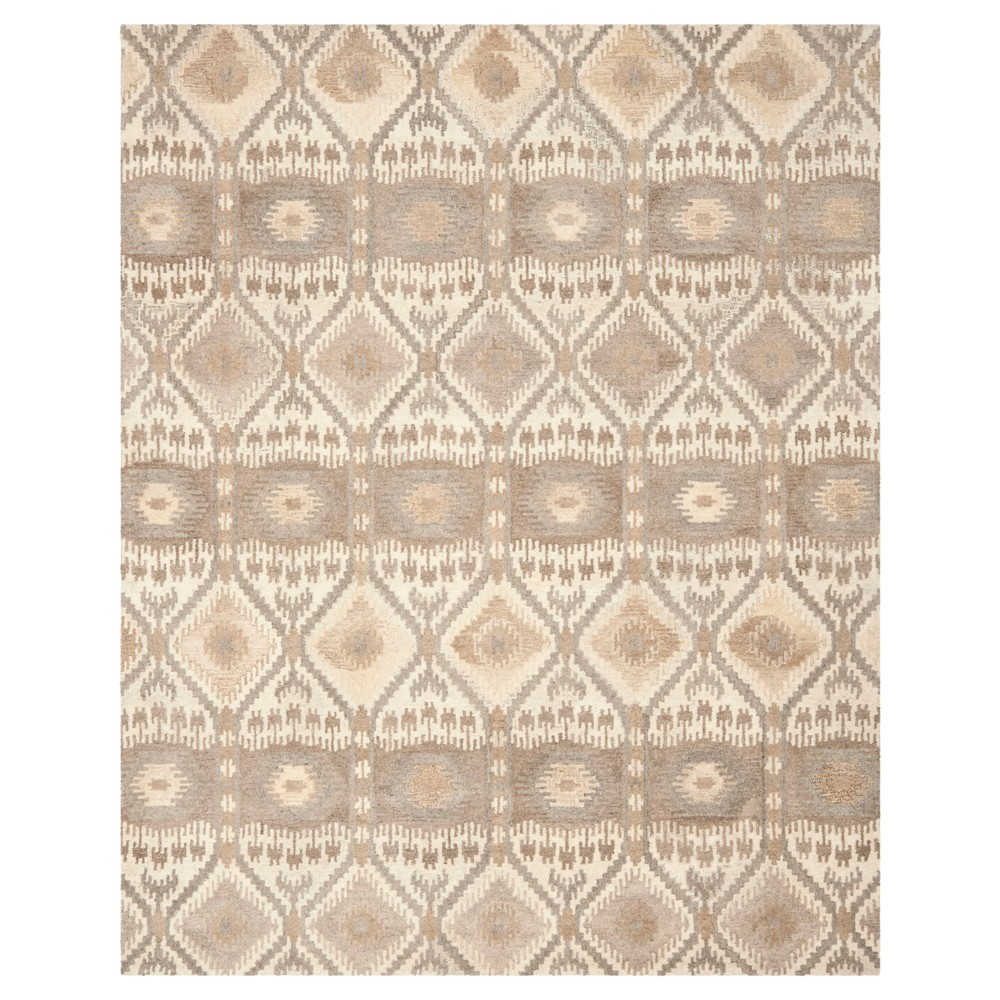 Natural/Multicolor Abstract Tufted Area Rug - (8'X10') - Safavieh, White