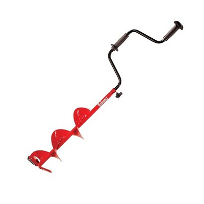 Eskimo 8 In Stainless Steel Ice Fishing Hand Powered Manual Auger Bit w/ Handle