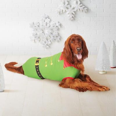 Pet Holiday Elf Pajamas - Wondershop™ Green M