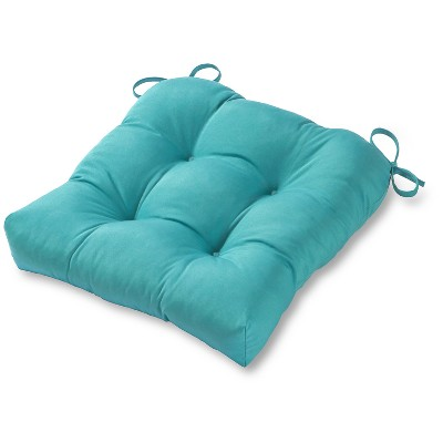 Solid Outdoor Seat Cushion - Teal - Kensington Garden