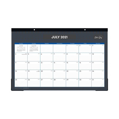 "2021-22 Academic Desk Pad 17"" x 11"" Heritage Dark - Blue Sky"