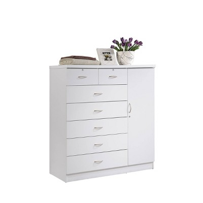 7 Drawer Chest with 3 Shelves - Hodedah Import