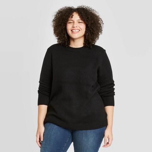 Women's Plus Size Crewneck Pullover Sweater - Ava & Viv™ - image 1 of 2