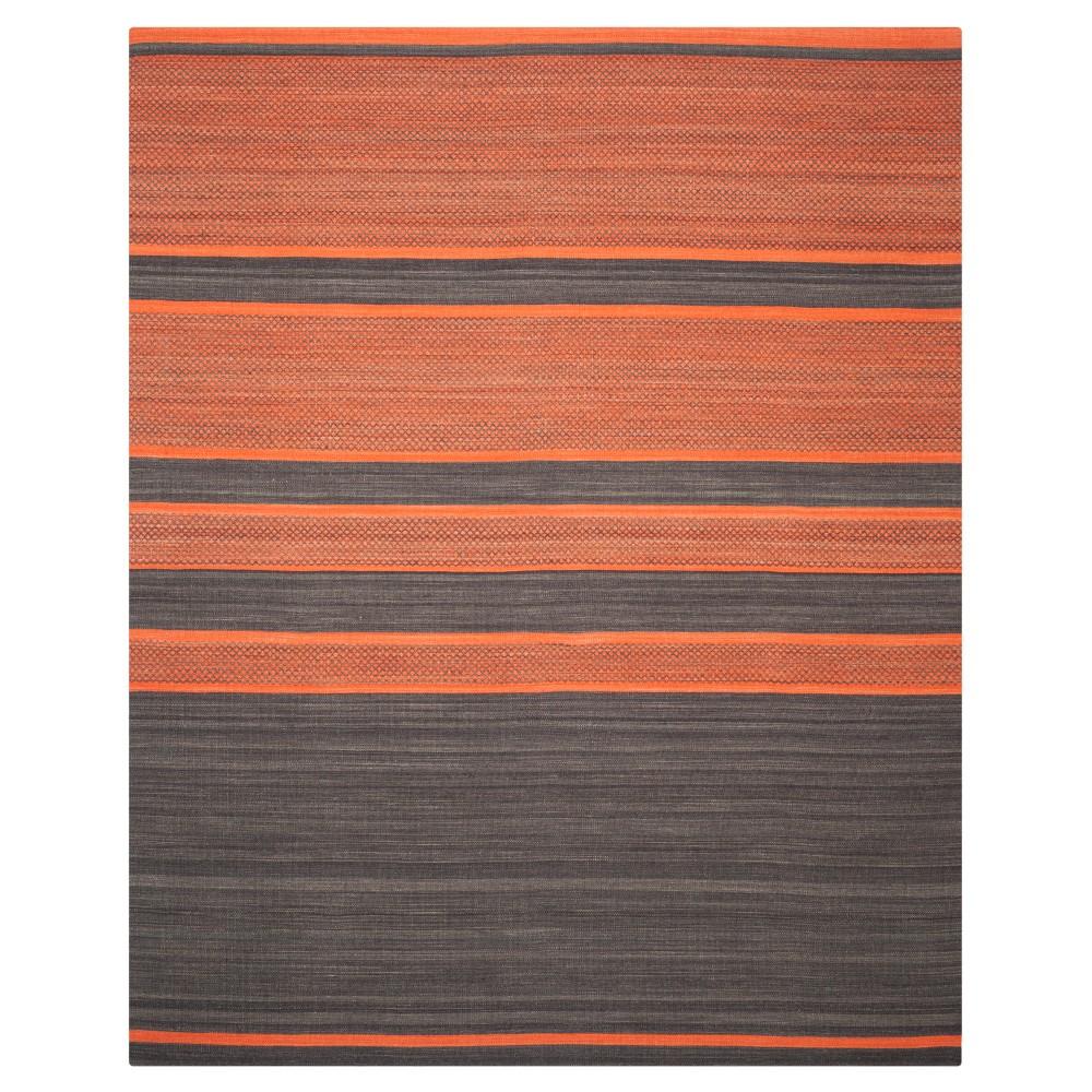Nico Area Rug - Dark Gray / Orange (9' X 12') - Safavieh, Dark Gray/Orange