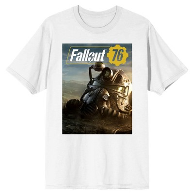 Fallout Helmet White Short Sleeve T-Shirt