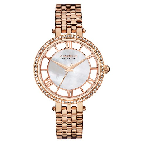 Caravelle New York by Bulova Women's Rose-Gold Stainless Steel Bracelet Watch - 44L171 - image 1 of 1