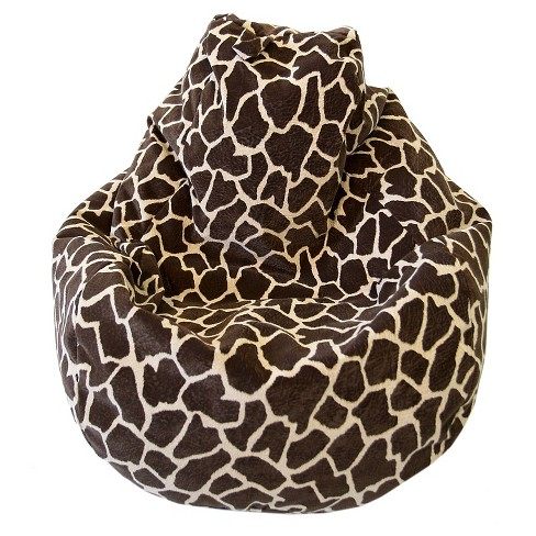 Gold Medal Microsuede Large Tear Drop Safari Micro-Fiber Suede Bean Bag - Giraffe - image 1 of 1