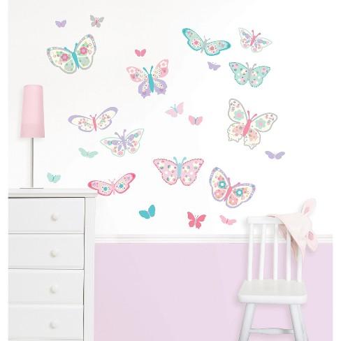 WallPops!® Flutterby Butterflies Wall Art Kit : Target