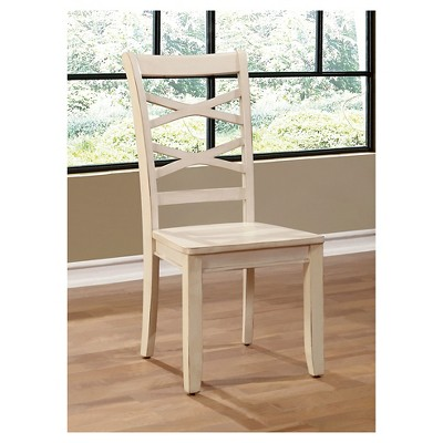Awesome Sun U0026 Pine Emery Transitional Cross Back Side Dining Chair   White (Set Of  2) : Target