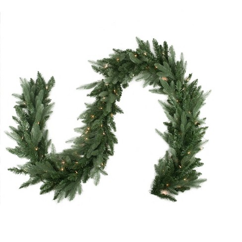 Northlight 9' x 12 Pre-Lit Washington Frasier Fir Artificial Christmas Garland - Clear Lights - image 1 of 1