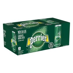 Perrier Carbonated Mineral Water - 10pk/8.45 fl oz Slim Cans
