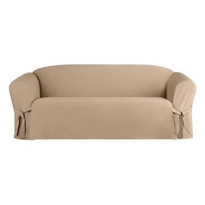 Heavyweight Cotton Duck Sofa Slipcover - Sure Fit