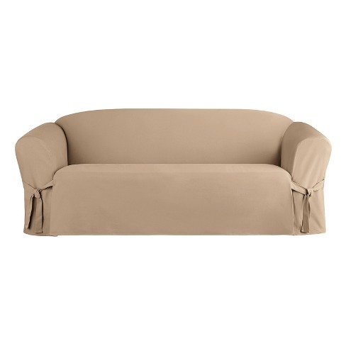 Heavyweight Cotton Duck Sofa Slipcover Sure Fit