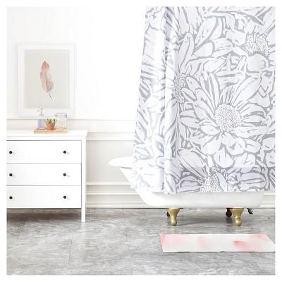 Lisa Argyropoulos Daisy Dove Shower Curtain Gray - Deny Designs