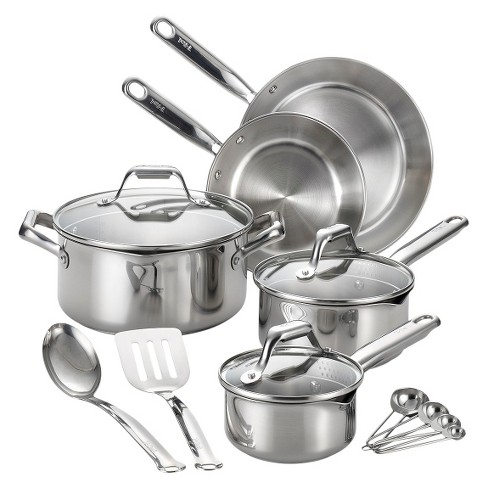 T-Fal Stainless Steel Cookware Set 14-pc - image 1 of 1