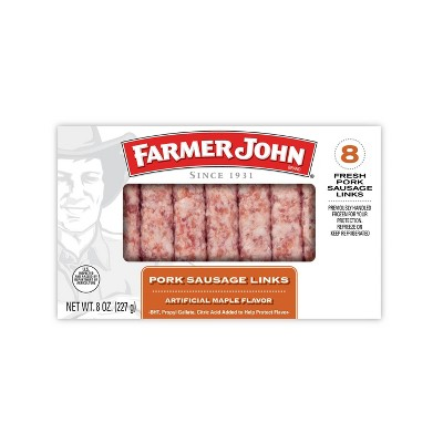 Farmer John Maple Pork Sausage Links - 8oz/8ct
