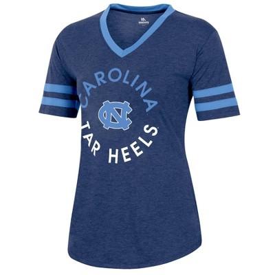 NCAA North Carolina Tar Heels Women's Short Sleeve V-Neck Heathered T-Shirt