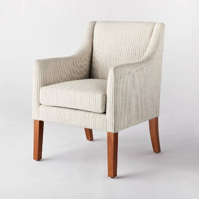 Clearfield Swoop Arm Dining Chair Cream Stripe - Threshold™ designed with Studio McGee