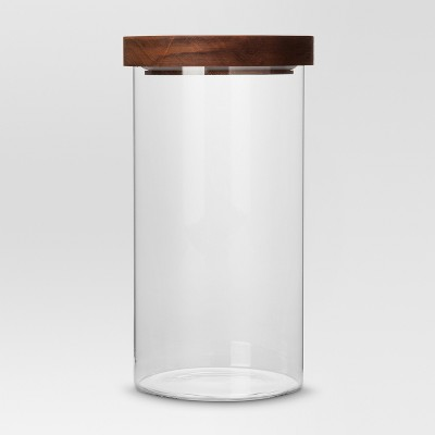 Large Glass Storage Canister with Wood Lid - Threshold™