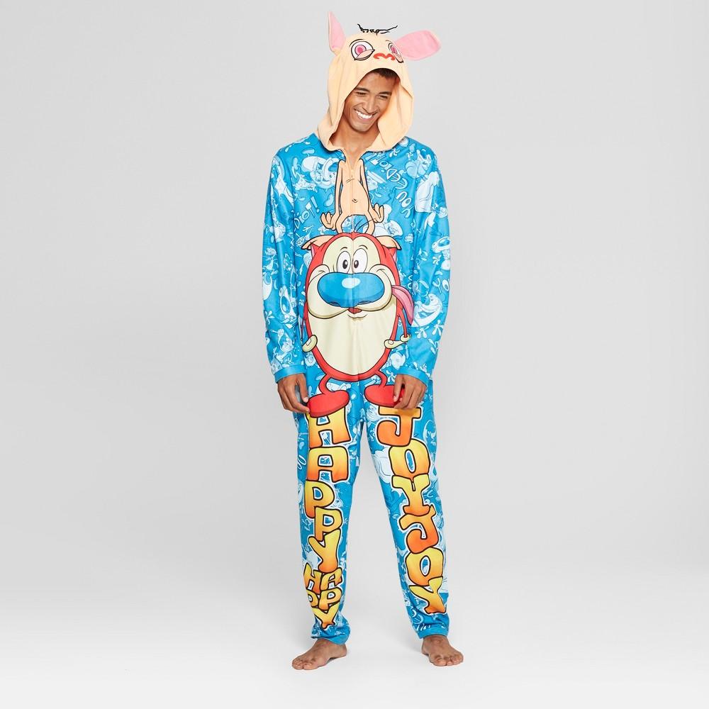 Men's Nickelodeon Ren & Stimpy Union Suit - XL, Blue