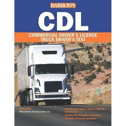 Barron's CDL: Commercial Driver's License Test - (Barron's CDL Truck Driver's Test) 4 Edition - image 1 of 1