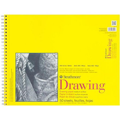 Strathmore 300 Series Drawing Pad, 14 x 17 Inches, 70 lb, 50 Sheets