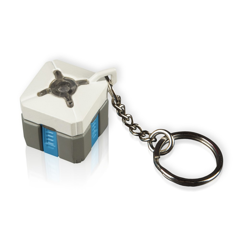 Overwatch Loot Box Key Chain with Lights and Sounds, Multi-Colored