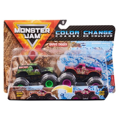 Monster Jam Color Change Grave Digger  - 1:64 Scale  - 2pk