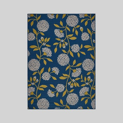 Viola Floral Outdoor Rug Blue/Green - Christopher Knight Home