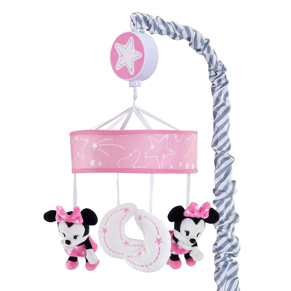 Image of Lambs & Ivy Disney Baby Musical Baby Crib Mobile - Minnie Mouse, Infant Girl's