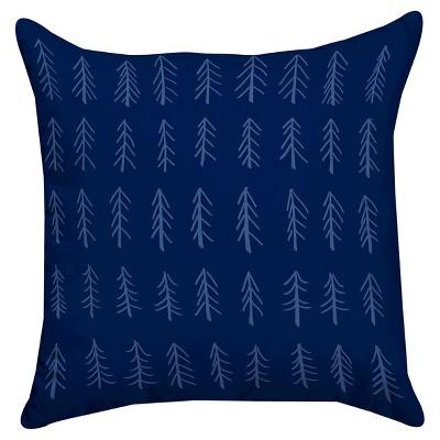Navy Little Tree Throw Pillow (14 x14 )Thumbprintz