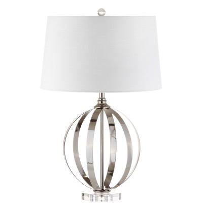 26  Logan Metal Orb LED Table Lamp Brushed Nickel (Includes Energy Efficient Light Bulb)- JONATHAN Y