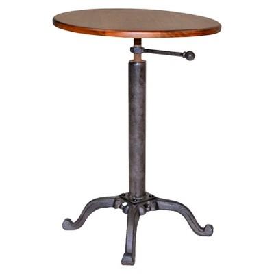 Gracie Adjustable Vintage Table Brown - Carolina Chair & Table