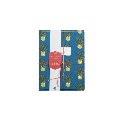 3pk Notebook College Ruled Sewn Bound Pineapple  - Opalhouse™