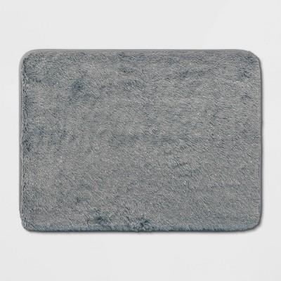 23 x17  Lurex Memory Foam Bath Rug Gray - Room Essentials™