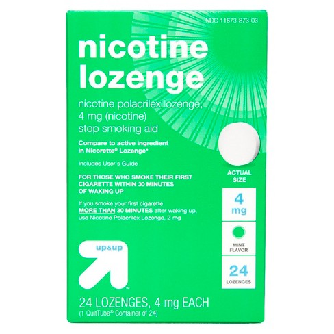 Nicotine 4mg Lozenge Stop Smoking Aid Mint Up Compare To Active Ing In Nicorette
