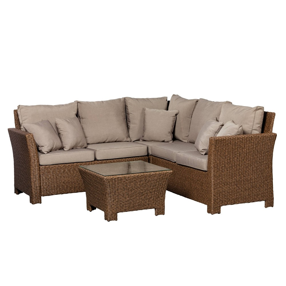 Image of Jarret 3pc Patio Sectional Seating Set - Balkene Home