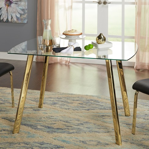 7e8c3c1ebbc0 Uptown Dining Table Glass Gold Metal - Buylateral   Target