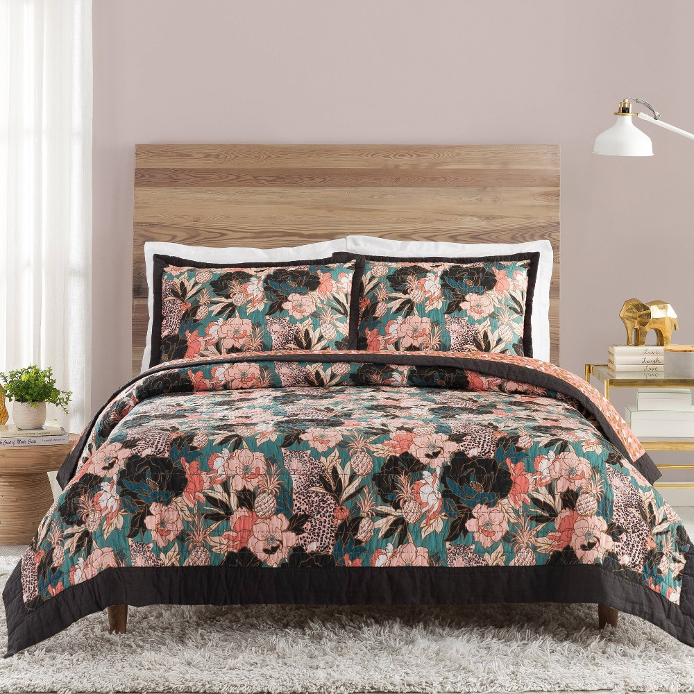 3pc King Leopard Hero Quilt Set Teresa Chan For Makers Collective