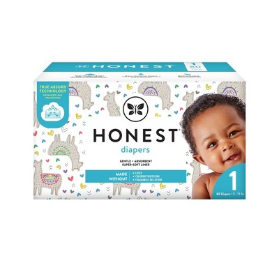 The Honest Company Disposable Diapers All The Alpacas Size 1 - 80ct