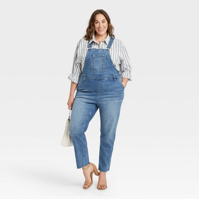 Women's Plus Size Overalls - Ava & Viv™ Blue