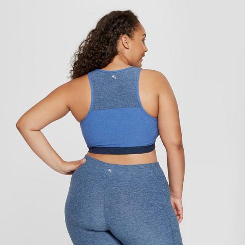 Womens Plus Size Long Line Crop Bra Joylab Target