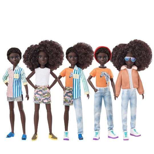 Creatable World Deluxe Character Kit - Black Curly Hair image number null