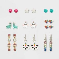 Girls' 9pk Panda and Llama Earring Set - Cat and Jack™