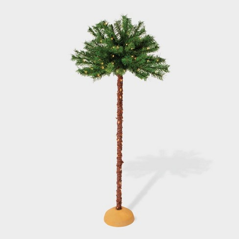 5' Pre-lit Artificial Palm Tree - Puleo - image 1 of 3