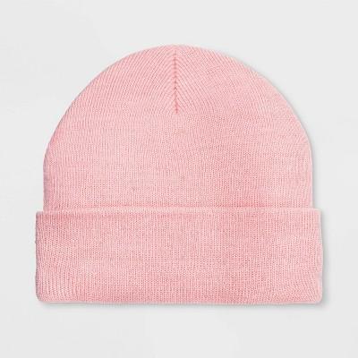 Girls' Cuffed Beanie - Cat & Jack™ Pink