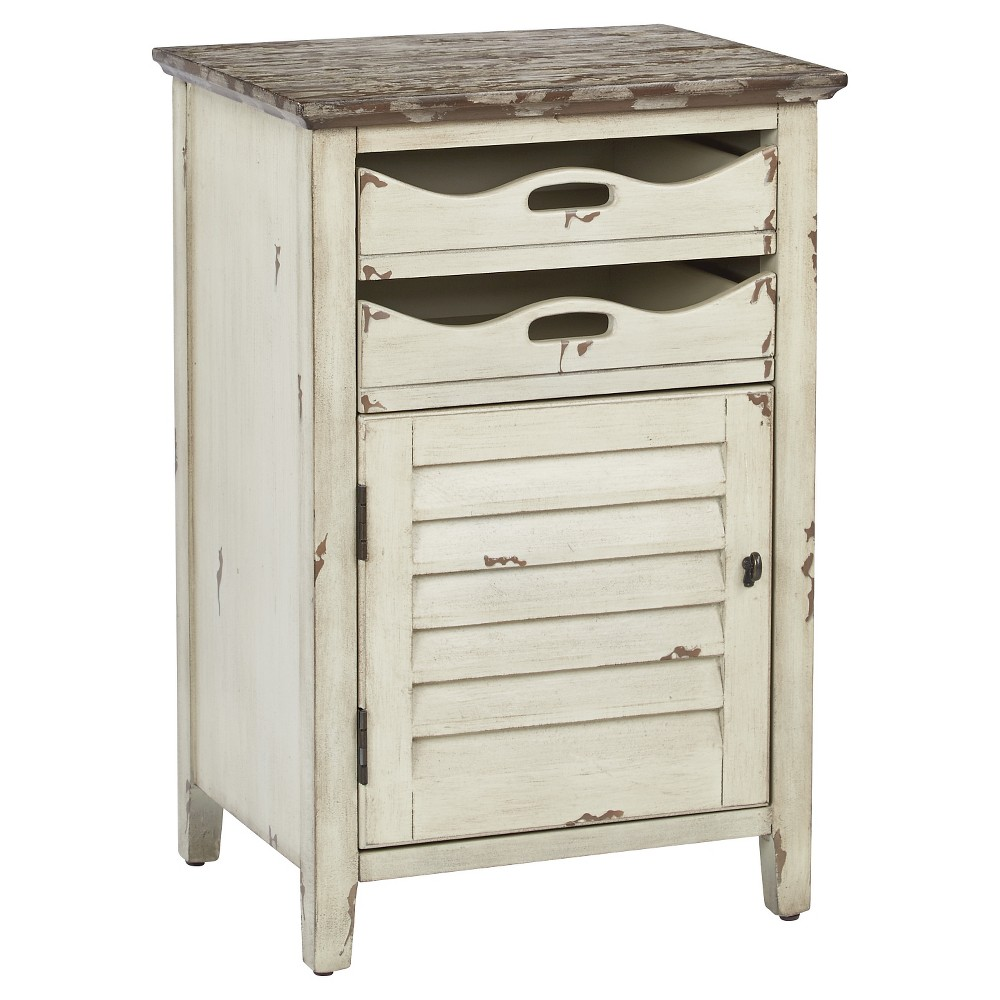 Charlotte Chair Side Table - Country Cottage Finish - Office Star Products, Ivory